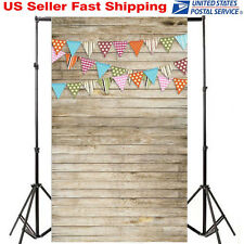 3x5FT Wood Wall Floor Colorful Flag Photography Backdrop Background Studio