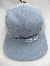 NEW LEVIS 5 PANEL BLUE CHAMBRAY BASEBALL  CAP 1 SIZE