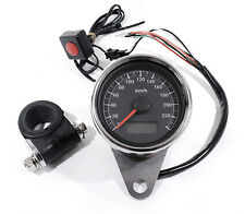 Top ** LCD mini Tachometer electrónicamente negro 60mm para Harley sportster Bike