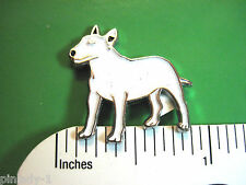 Bull Terrier -   hat pin , lapel pin , tie tac ,   hatpin  (E) GIFT BOXED