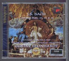 LEONHARDT CD NEW BACH CANTATAS 27,34, & 41