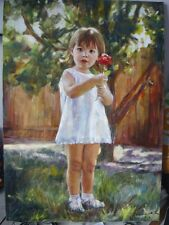Oil painting portrait from photo on canvas. Custom oil portrait by Shukina H.