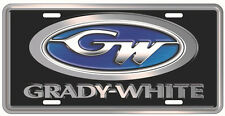 GRADY WHITE LOGO LICENSE PLATE - TAX FREE!!