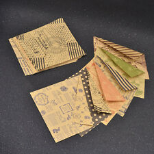 60 Pcs Double Sides Chiyogami Retro Kraft Paper Origami DIY Hand Craft