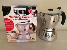 Bialetti Mukka Express Cappuccino Maker (Silver with Silver Base)