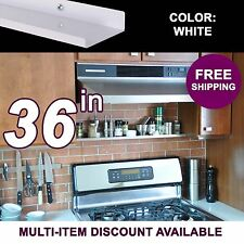36in x 3.5in ultraLEDGE White Metal Floating Over-the-Range Shelf / Spice Rack