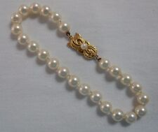 18k Yellow Gold MIKIMOTO 6MM AKOYA PEARL BRACELET 7.5 In 24 Pearls #16177