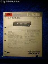 Sony Service Manual TC W200 Cassette Deck  (#0186)