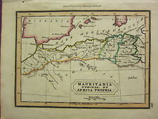 1832 SMALL ANCIENT MAP ~ MAURITANIA NUMIDIA ET AFRICA PROPRIA BALEARES
