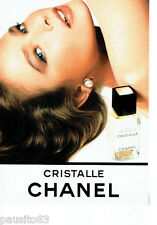 PUBLICITE ADVERTISING 056  1987  Eau de toilette Cristalle de Chanel