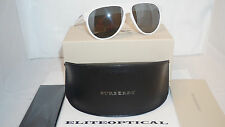 New Authentic BURBERRY Aviator white/silver BE4142 33946G 59 $400