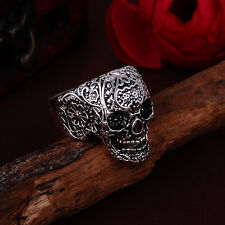 Jewelry Men's 316l stainless steel Fashion Punk design Skull ring US size11 T02