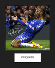 DIDIER DROGBA - CHELSEA Signed 10x8 Mounted Photo Print - FREE DEL