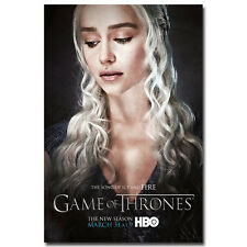 "Game Of Thrones Season 5 TV Series Art Silk Poster 13x20"" Daenerys Emilia Clarke"