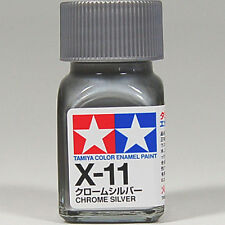 TAMIYA COLOR ENAMEL X-11 Chrome Silver MODEL KIT PAINT 10ml NEW