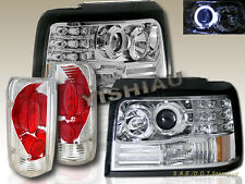 92 93 94 95 96 Ford F-150 Bronco Halo LED Projector Headlights & Tail Lights