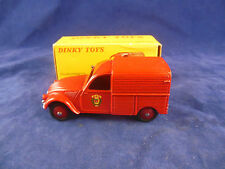 French Dinky toys 25D Citroen 2 CV Fourgonnette Incendie  Original & Superb