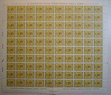 1966  ITALIA  20 lire Giornata del Francobollo   foglio  intero MNH**