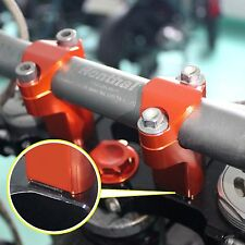 "1 1/8"" Universal Bar Clamp Riser Taper Handlebar fit Dirt Bike KTM 28mm Orange"