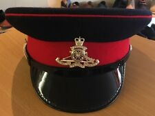 British Army Issue Royal Artillery Peaked Cap And Badge Size 57CM