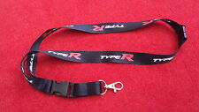 Genuine Honda Type-R Lanyard Black White Red - Civic Type R Range Car Keyring