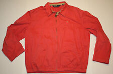 Vintage Mens Polo Ralph Lauren Pink Salmon Cotton Jacket Size Large Beige Pony