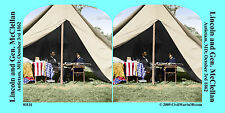 Lincon McCllelan Antietam Civil War SV Stereoview Stereocard 3D 01131