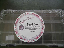 Clear Plastic Bead/Button Box with 18 Compartments
