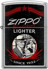 Zippo Windproof Lighter Since 1932, Drug Store, Street Chrome New Rare