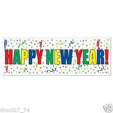 """NEW YEAR New Years Eve Party Decoration HAPPY NEW YEAR SIGN BANNER 60"""" x 21"""""""