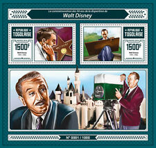Togo 2016 MNH Walt Disney 50th Memorial Anniv 2v S/S Cartoons Celebrities Stamps