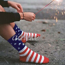 Unisex American USA Star Flag Stripes Fashion Casual Crew Ankle Glory Socks New