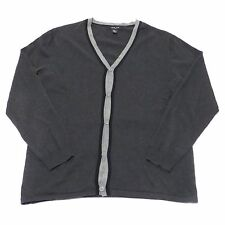 MARK LAW LUXURY 100% COTTON GRAY CARDIGAN SWEATER WOMENS SIZE L LARGE