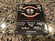 Metal Blade Records 20th Anniversary Party New Sealed DVD! Cannibal Corpse Gwar