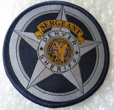 Patch- Denver Sheriff Sergeant US Police Patch (New* apx. 78x78 mm)
