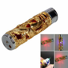 Windproof Dragon Pattern Refillable Butane Cigarette Lighter Golden - One item