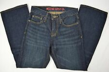 Mossimo Supply Co Mens Slim Boot Cut Denim Blue Jeans size 26 X 28