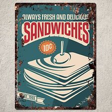 PP0152 Vintage SANDWICHES Sign Home Shop Cafe Restaurant Interior Decor Gift