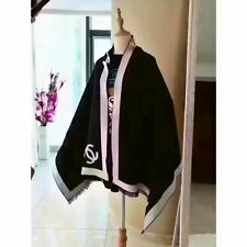 BRAND NEW RECTANGLE LADIES SOFT FASHION SCARF BLACK AND WHITE UK FREE DISPATCH