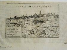 Jerez de la Frontera. Lasor a Varea/Savonarola, grabado original.Padua 1713