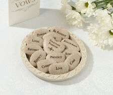 Set Of 13 Vow Stones With Plate Wedding Vow Ceremony Keepsake