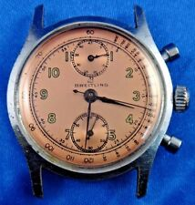 Vintage Breitling Men's Handwinding Chronograph Swiss Watch No Band Working
