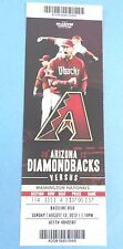 Arizona Diamondbacks vs Cincinnati Reds 2012 Ticket w/Stub Monday 8/27/2012