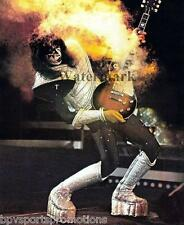 KISS - ACE FREHLEY SMOKING GUITAR GLOSSY 8x10 PHOTO PAUL STANLEY GENE SIMMONS