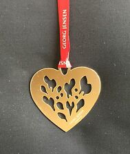 GEORG JENSEN - 2015 GOLD HEART CHRISTMAS DECORATION