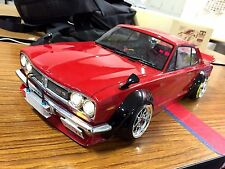 ABC HOBBY RC 1/10 SKYLINE HT2000GT-R BariBari CUSTOM!! Clear Body Drift PANDORA