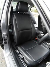TOYOTA PRIUS CAR SEAT COVERS BLACK LEATHERETTE BESPOKE MADE TO MEASURE