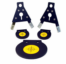 "AR500 Steel Shooting Target Kit - 8"" Gong, Gong Stand Brackets and (2) 4"" Gongs"