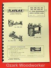 "ATLAS/CRAFTSMAN 12"" Metal Lathe 3980,3981,3982,3983,3990,3991 Parts Manual 0044"