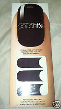 Dashing Diva ColorFX Nail Applique/Stickers *TOUCH-WORTHY* Deep Dark Cocoa Brown